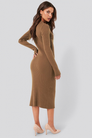 Rochie Ribbed Knitted Midi1