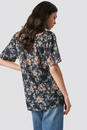 Tricou Floral Oversized Tee1