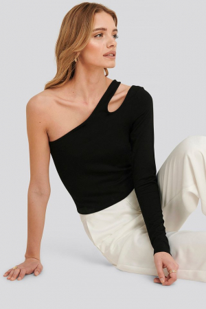 Bluza Lucy one shoulder bodycon top [0]