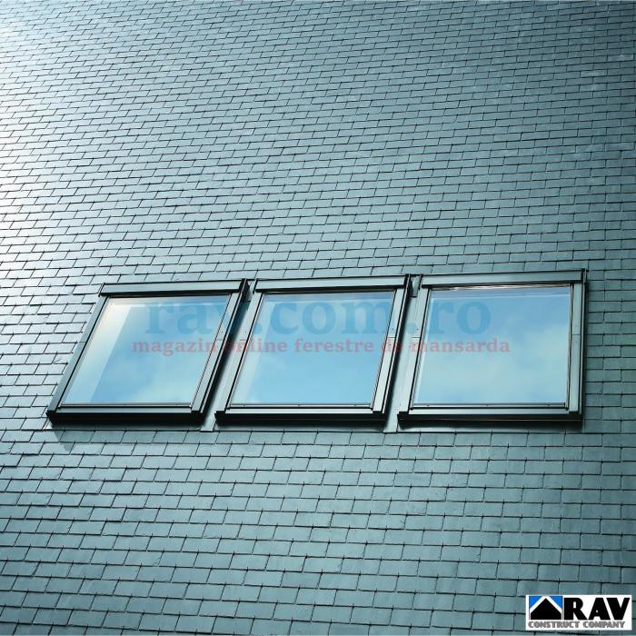 Rama de etansare pentru trei ferestre VELUX alaturate 2