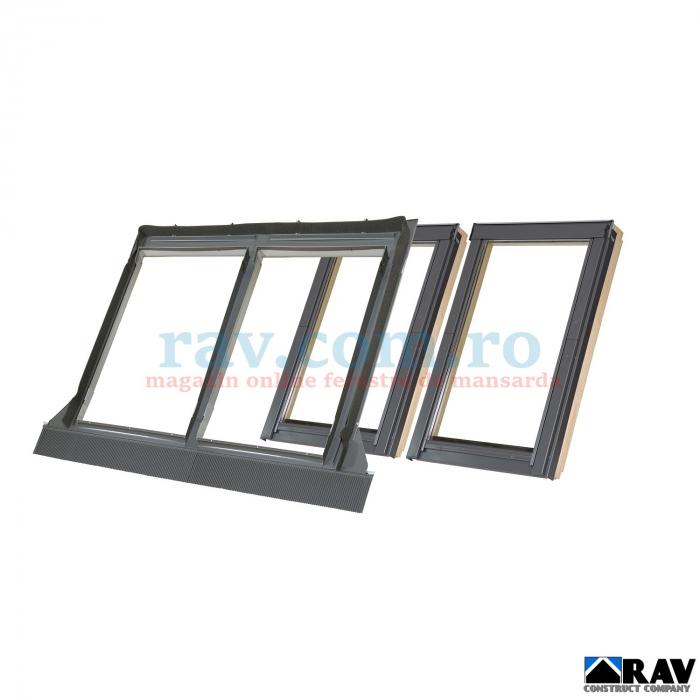 Rama pentru doua ferestre VELUX alaturate (tigla, tigla metalica) 1