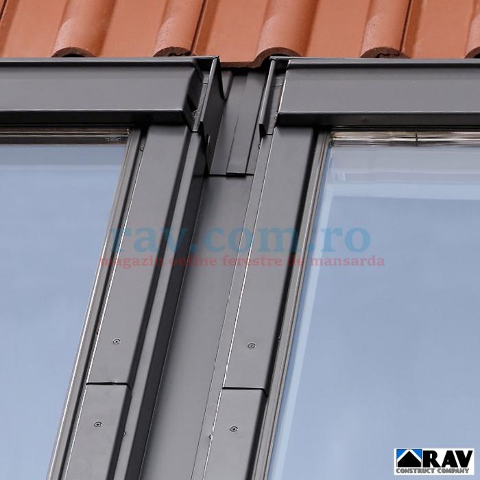 Rama pentru doua ferestre VELUX alaturate (tigla, tigla metalica) 3