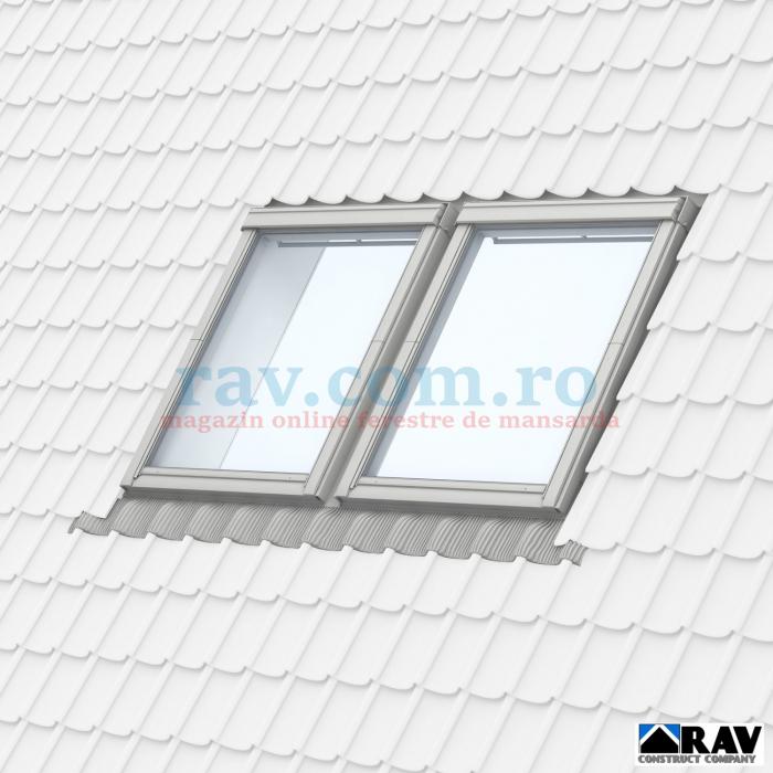 Rama pentru doua ferestre VELUX alaturate (tigla, tigla metalica) 4