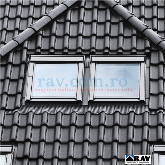 Rama pentru doua ferestre VELUX alaturate (tigla, tigla metalica) 0