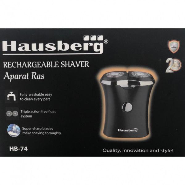 Aparat de ras electric reincarcabil HB-74 cu 2 baterii 350 mah, Hausberg [2]