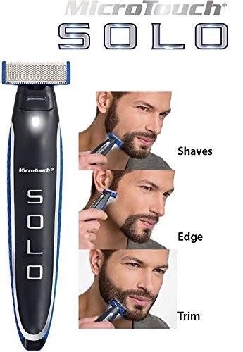 Aparat de ras trimmer MicroTouch SOLO, 3 capete, lame otel inoxidabil, USB [2]