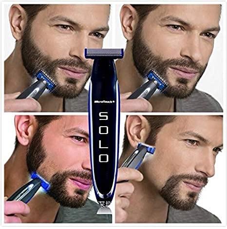 Aparat de ras trimmer MicroTouch SOLO, 3 capete, lame otel inoxidabil, USB [3]