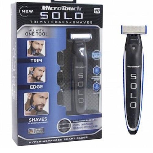 Aparat de ras trimmer MicroTouch SOLO, 3 capete, lame otel inoxidabil, USB [7]