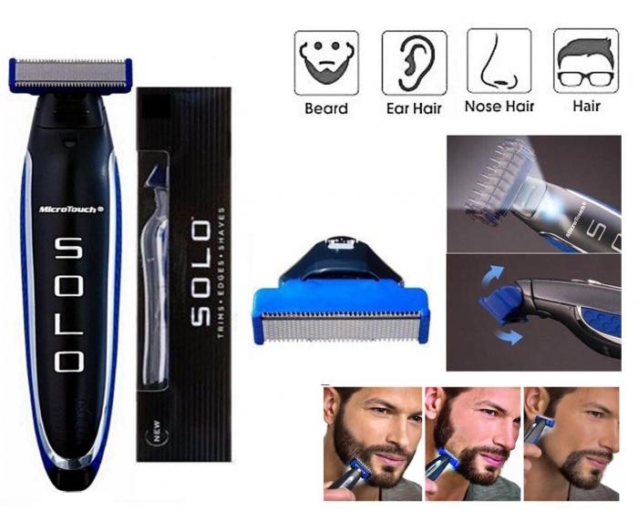 Aparat de ras trimmer MicroTouch SOLO, 3 capete, lame otel inoxidabil, USB [8]