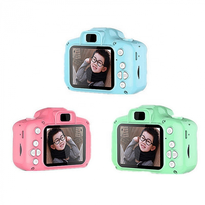 Aparat foto copii Full HD, Digital camera Record LCD , 2.0 inch ,AVI,  jpg, Micro SD, View 140, memorie interna 128M, rezistent la apa [1]