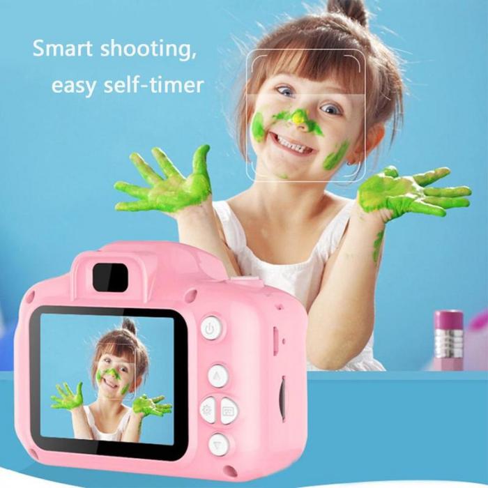 Aparat foto copii Full HD, Digital camera Record LCD , 2.0 inch ,AVI,  jpg, Micro SD, View 140, memorie interna 128M, rezistent la apa [9]