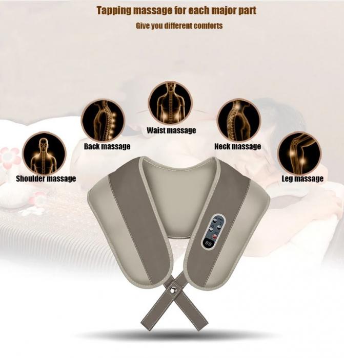 Aparat masaj Shawls, umeri si gat, pentru relaxare si dureri musculare, vibratii intense [2]
