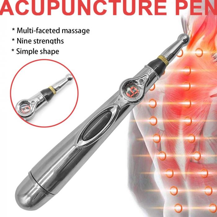 Aparat pentru masaj, acupunctura fara ace, cu 2 capete si afisaj LED Massager Pen [10]
