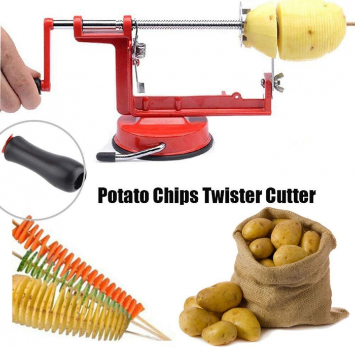 Aparat pentru taiat cartofi in forma de spirala, Spiral Potato Slicer [8]