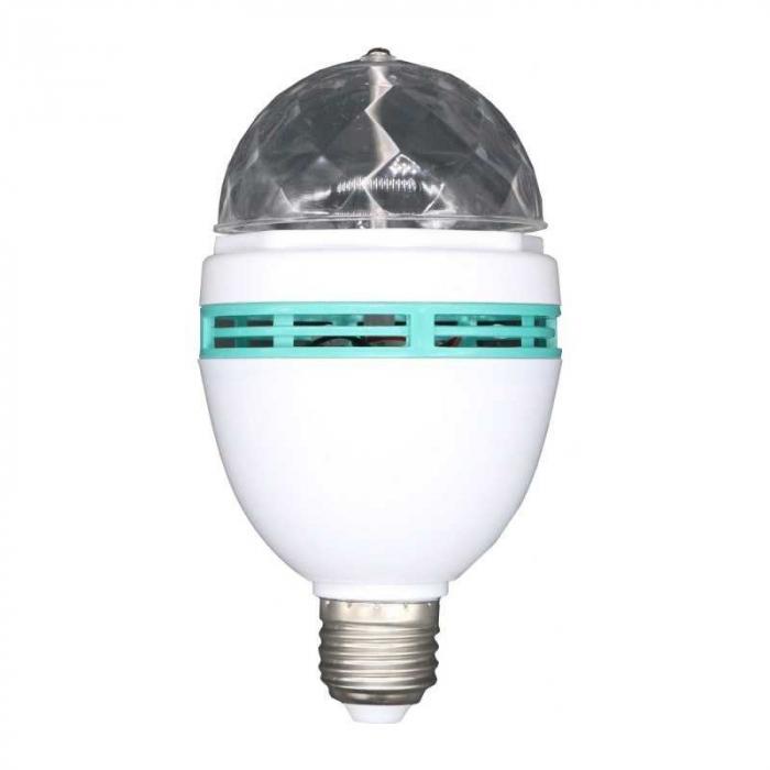 Bec rotativ disco Full Color LED mini party consum 3W [5]