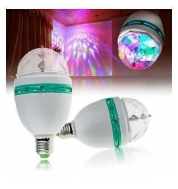 Bec rotativ disco Full Color LED mini party consum 3W [0]