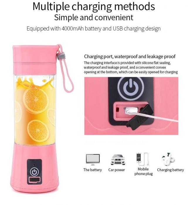 Blender portabil cu acumulator si alimentare prin USB [4]