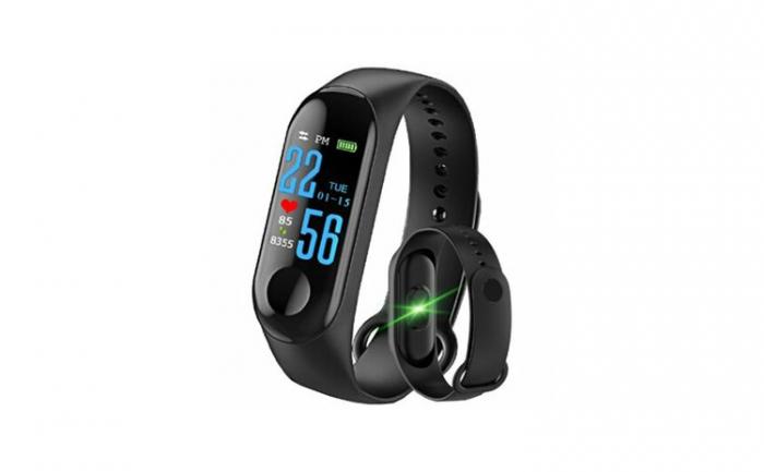 Bratara Fitness M3, monitorizare activitati sanatate, somn, puls, oxigen, ritm cardiac [0]