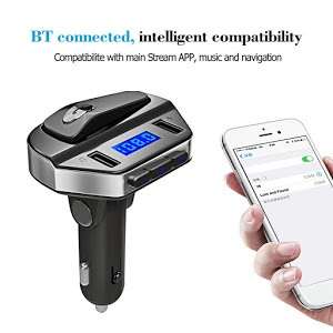 Car kit modulator MP3 V6, handsfree, 12 V, 2 x USB, casca bluetooth [3]
