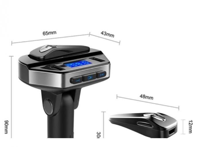 Car kit modulator MP3 V6, handsfree, 12 V, 2 x USB, casca bluetooth [4]