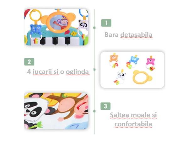 Centru de activitati pentru bebelusi, multifunctional, saltea de activitati, saltea de joaca [7]