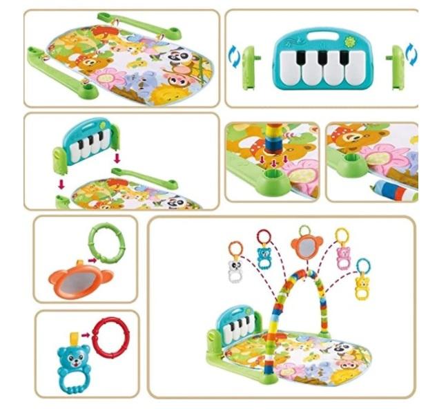 Centru de activitati pentru bebelusi, multifunctional, saltea de activitati, saltea de joaca [6]