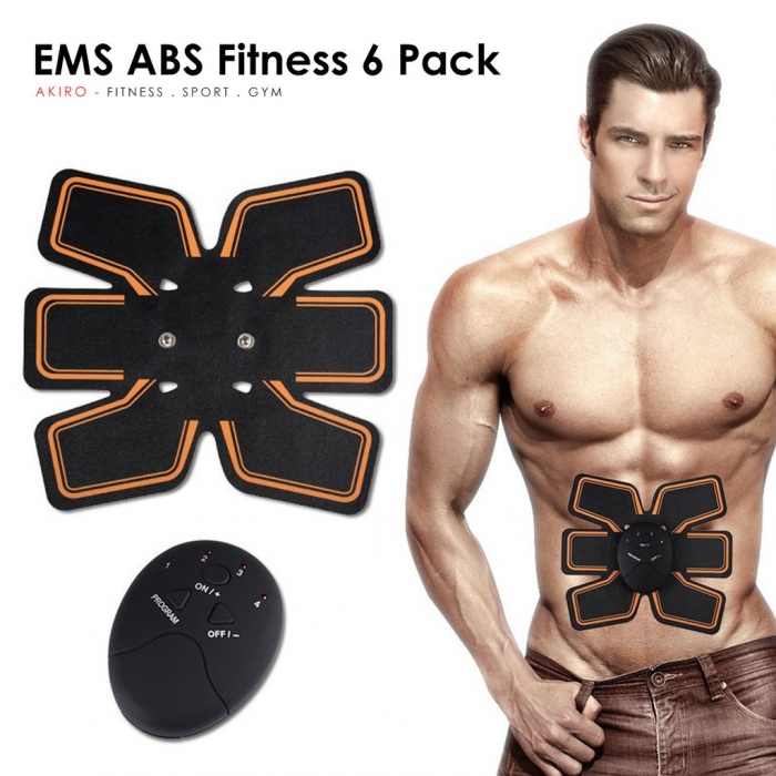 Centura fitness functie de electrostimulare ems 6 pack, EMS [7]