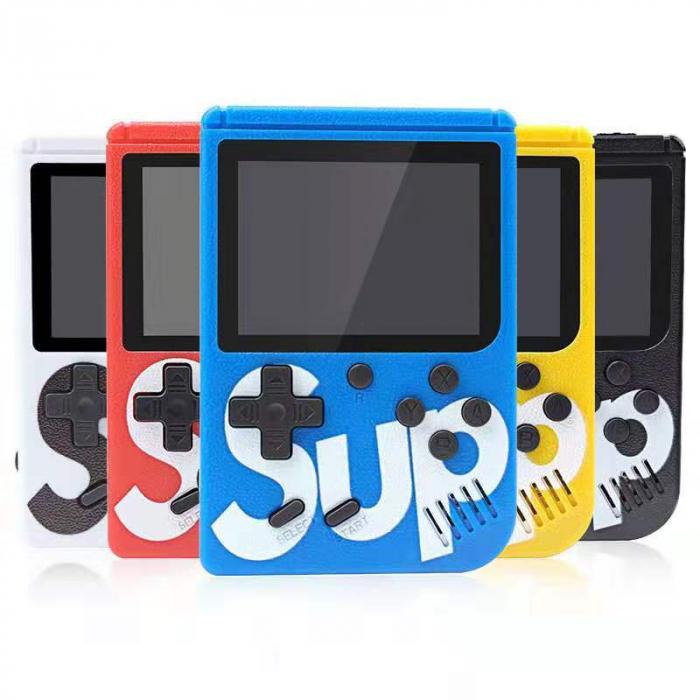 Consola SUP Game Box, 400 jocuri, rotita volum, ecran LCD, cablu AV pentru conectare televizor, incarcare Micro-USB, jocurile copilariei [1]