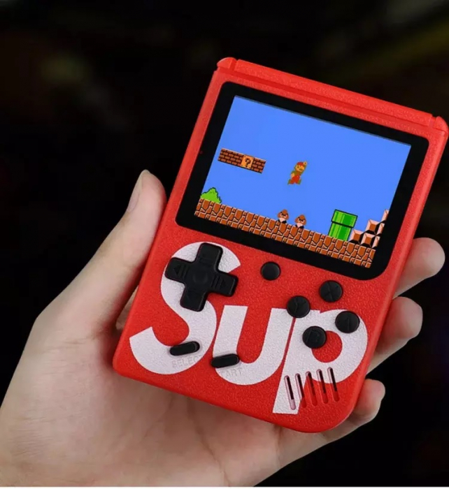 Consola SUP Game Box, 400 jocuri, rotita volum, ecran LCD, cablu AV pentru conectare televizor, incarcare Micro-USB, jocurile copilariei [2]