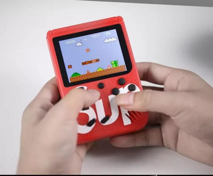 Consola SUP Game Box, 400 jocuri, rotita volum, ecran LCD, cablu AV pentru conectare televizor, incarcare Micro-USB, jocurile copilariei [5]