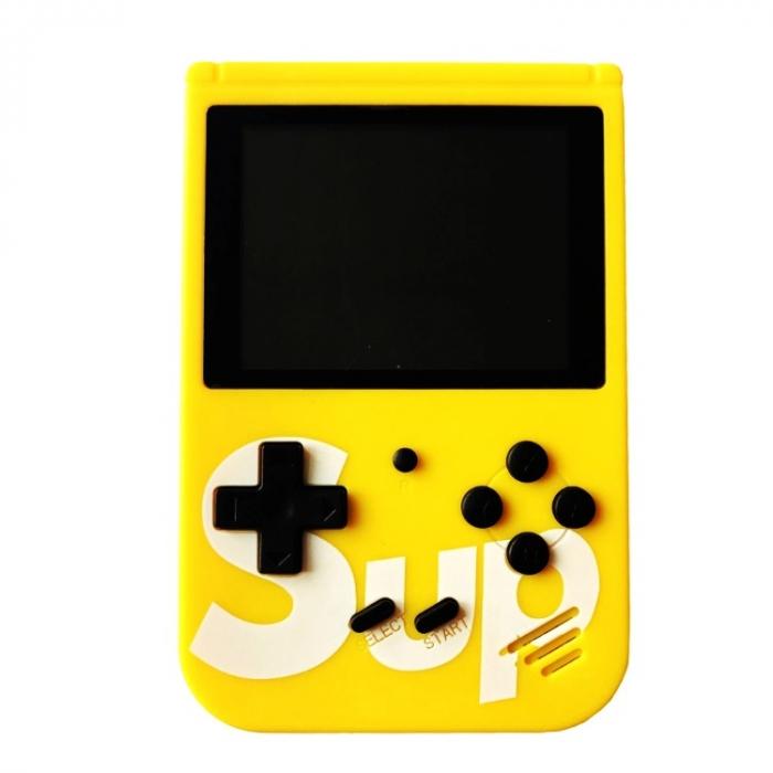 Consola SUP Game Box, 400 jocuri, rotita volum, ecran LCD, cablu AV pentru conectare televizor, incarcare Micro-USB, jocurile copilariei [8]