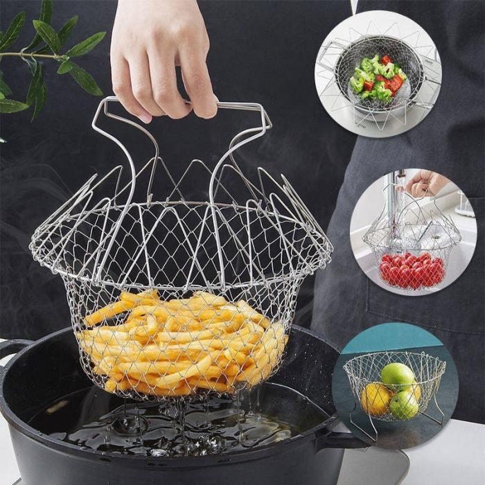 Cos pentru gatit sau scurs, 12 in 1, din inox, Chef Basket [3]