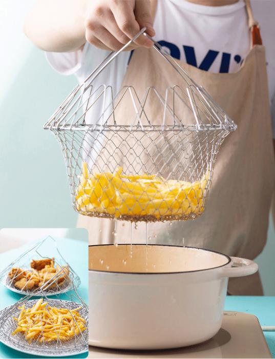 Cos pentru gatit sau scurs, 12 in 1, din inox, Chef Basket [4]