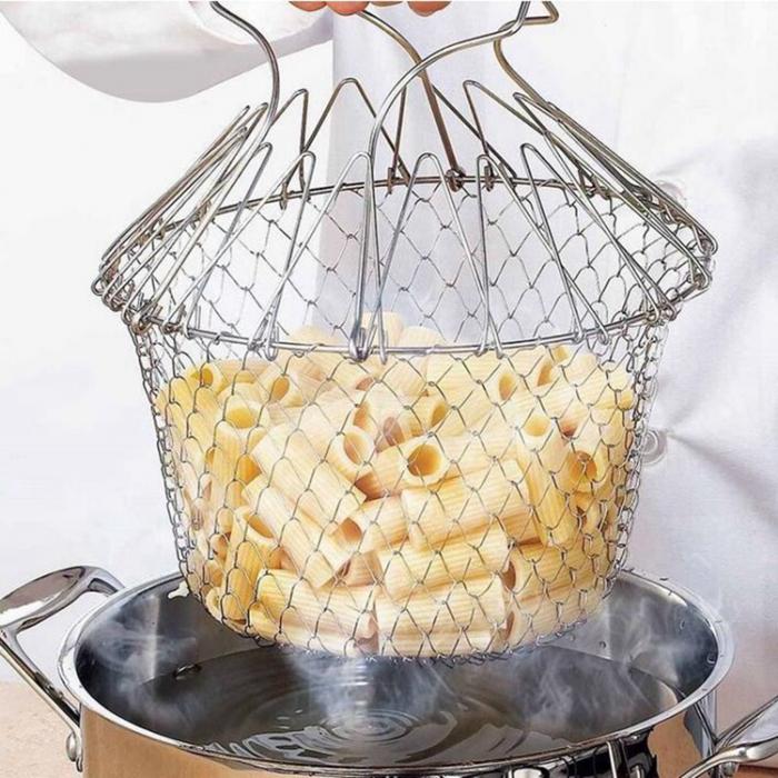 Cos pentru gatit sau scurs, 12 in 1, din inox, Chef Basket [1]