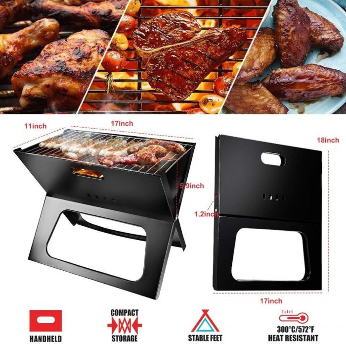 Gratar portabil, pliabil, X-Type BBQ Barbeque [4]