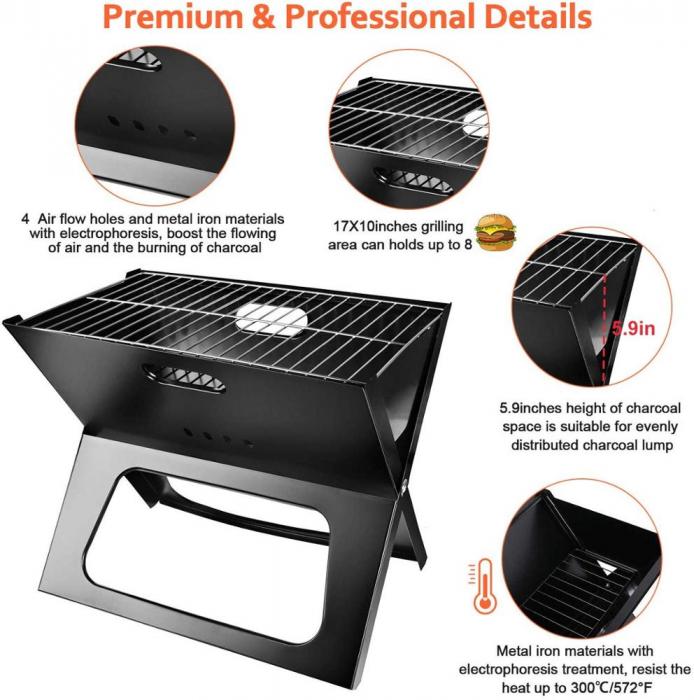Gratar portabil, pliabil, X-Type BBQ Barbeque [7]