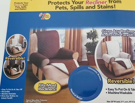 Husa fotoliu impotriva petelor si parului de animale, Protects your recliner [2]