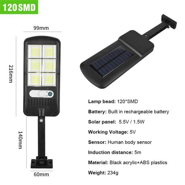 Lampa solara 6 celule, 120 LED-uri COB, cu telecomanda, 30 W [2]