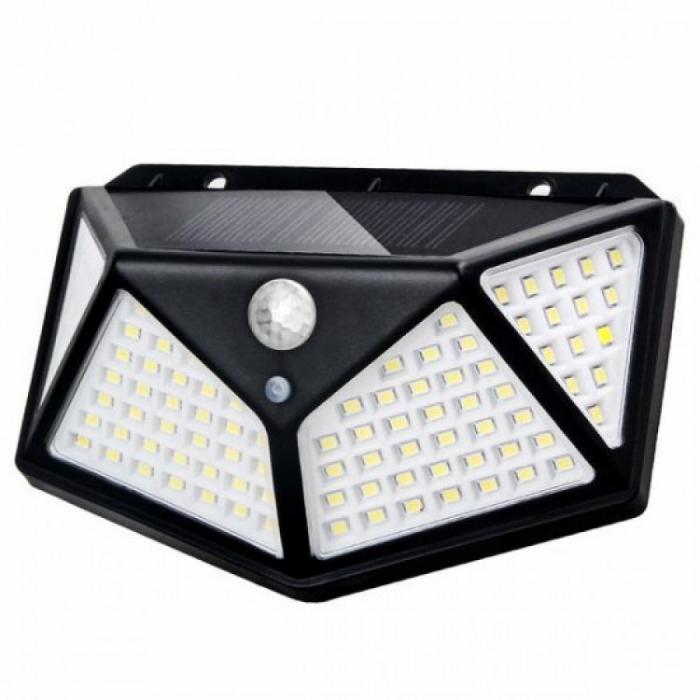 Lampa de exterior, solara, 100 LED-uri, 2200 mAh, cu senzor de miscare [9]