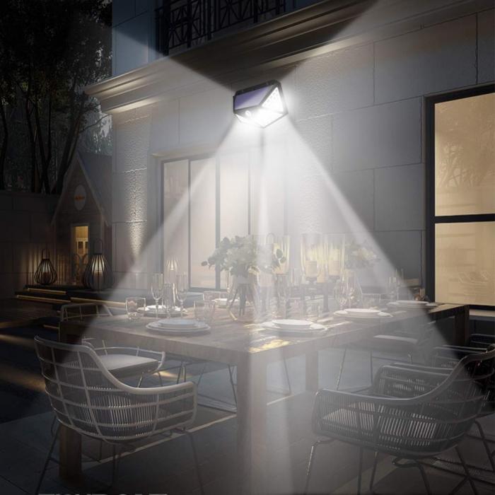 Lampa de exterior, solara, 100 LED-uri, 2200 mAh, cu senzor de miscare [4]