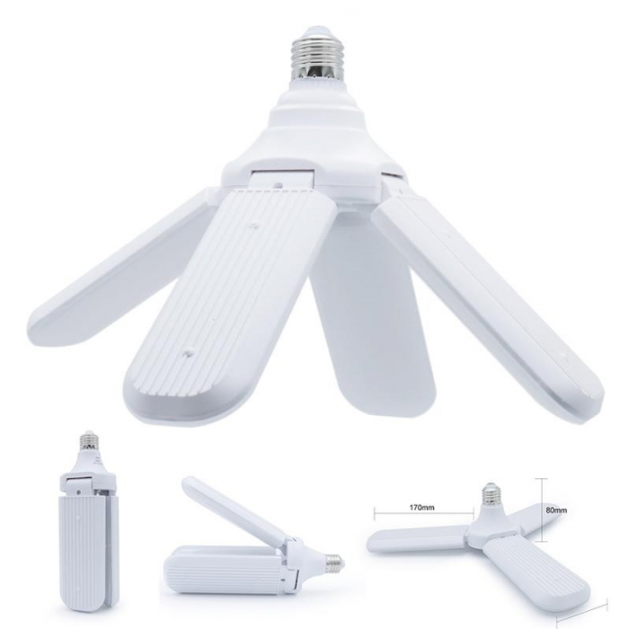 Led cu 4 brate pliabile Fan blade led bulb [0]