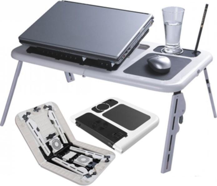 Masa laptop E-Table cu 2 ventilatoare si picioare pliabile [0]