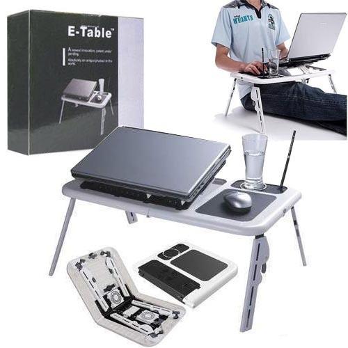 Masa laptop E-Table cu 2 ventilatoare si picioare pliabile [10]