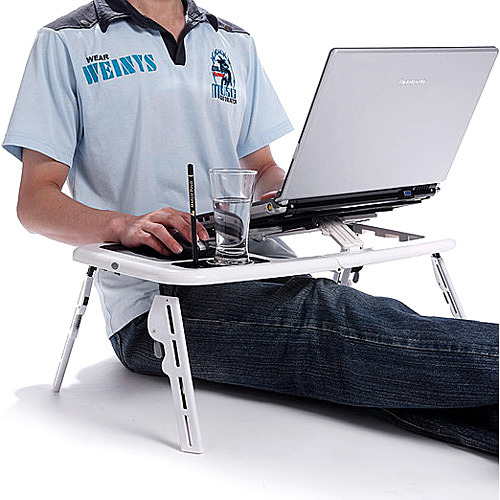 Masa laptop E-Table cu 2 ventilatoare si picioare pliabile [7]