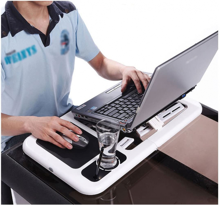Masa laptop E-Table cu 2 ventilatoare si picioare pliabile [8]