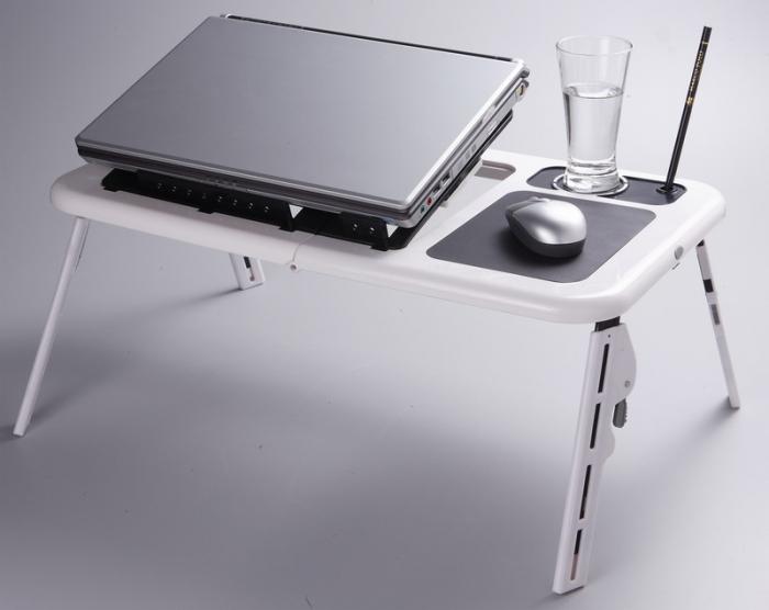 Masa laptop E-Table cu 2 ventilatoare si picioare pliabile [3]