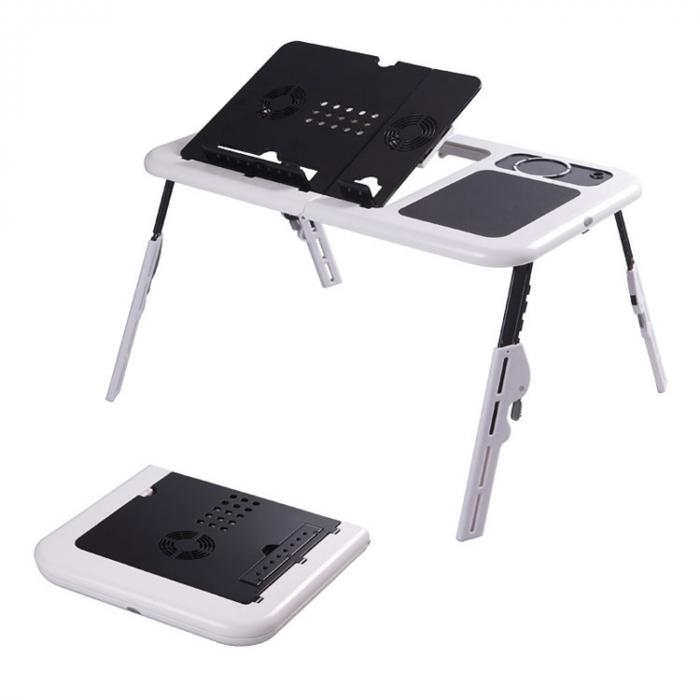 Masa laptop E-Table cu 2 ventilatoare si picioare pliabile [2]