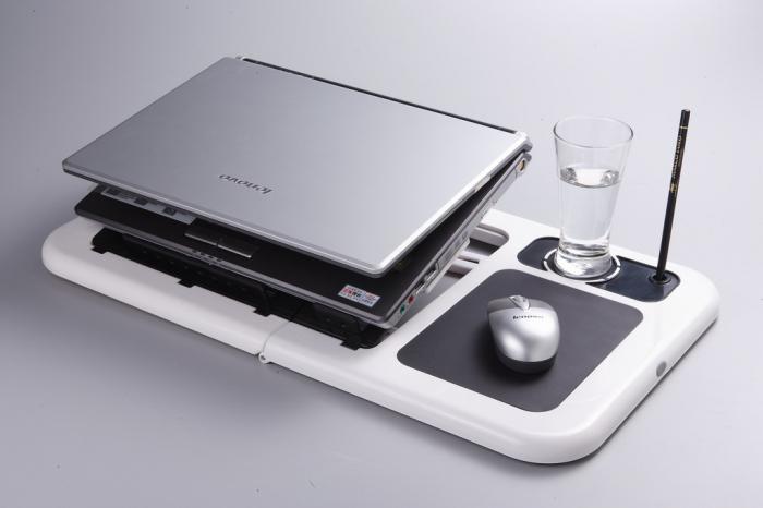 Masa laptop E-Table cu 2 ventilatoare si picioare pliabile [4]