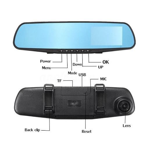 Oglinda auto DVR retrovizoare, camera fata-spate Full HD 1080 [1]
