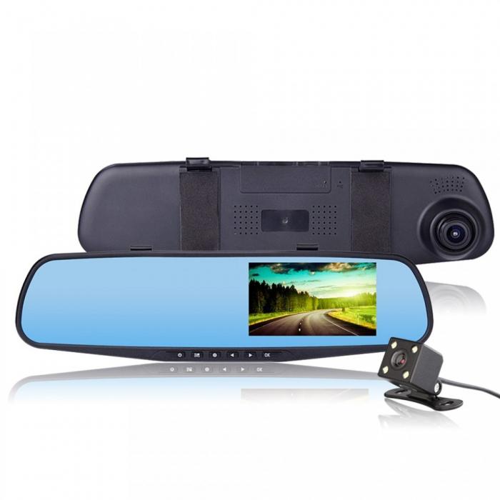 Oglinda auto DVR retrovizoare, camera fata-spate Full HD 1080 [6]
